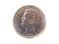 Moneda 5 Pts, Amadeo I, 1871-1875
