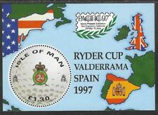 ISLE OF MAN 1997 GOLF RYDER CUP Souvenir Sheet MNH