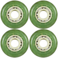 Inline Skate Wheel Roller Edge Clear Green Set of Four