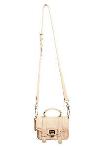 Proenza Schouler Women's Blush Pink Leather Mini Crossbody Shoulder Bag