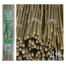Pack of 20 Wooden Natural Bamboo Garden Canes Plant Canes Strong Support - 4ft