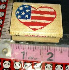 Patriotic heart, stampendous, 54, wooden,rubber,stamp