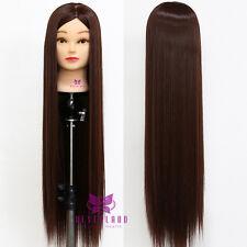 """30"""" 76cm 100% À Coiffer Long perruque Cheveux Coiffure Mannequin Doll + Clamp"""