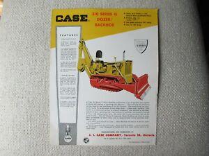 Case 310 dozer backhoe tractor specification sheet brochure