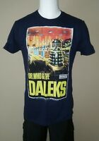 DR. WHO & THE DALEKS DOCTOR DARK NAVY BLUE TV XL EXTRA LARGE MENS TEE SHIRT NEW