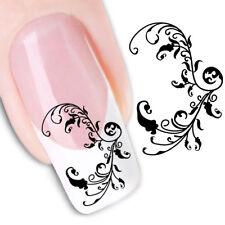 Pegatinas  stickers Nº 29 para la decoración  uñas, nail art FX1445 tribal doble