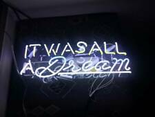 """13"""" It was All A Dream Neon Sign Light Beer Bar Pub Lamp Display Glass Decor"""