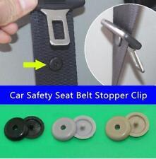 4 x VW Audi Seat Skoda Universal Kunststoff Stopper für Sicherheitsgurt Schwarz