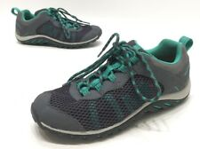 Merrell Riverbed Trail Womens Grey/Green Leather Mesh Hiking Shoes Size 6