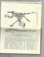 Russian Soviet military Manual book machine gun 12,7 mm UTES Утёс NSV 12,7 guide