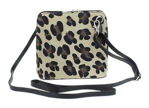 Womens Small Genuine Italian Suede Vera Pelle Cross Body Shoulder Bag Designer