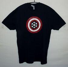 "NEXT LEVEL APPAREL Scality Captain America T shirt UK UK M US S 42"" 107 cm"