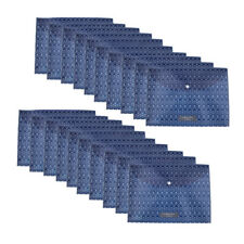 20xPortable Business A4 File Bag File Folder Plastic Envelope Shape