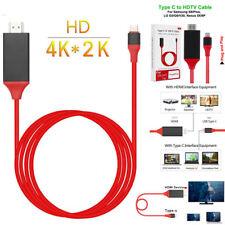 2m Tipo-C Usb-C a HDMI con / Cable de Carga Adaptador para Samsung Galaxy S9 S8