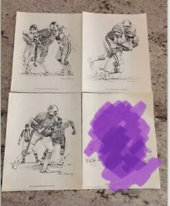 Vintage 1981 Tampa Bay Buccaneers Lot of 3 Shell Oil Pencil-like Posters 11x14