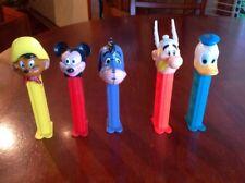 5 Vintage Pez Dispensers Mickey Mouse, Eeyore, Speedy Gonzalez, Donald Duck