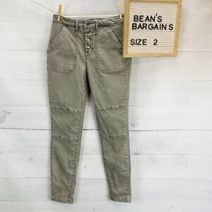 Mossimo Denim Womens High Rise Jegging Super Stretch Gray Button Fly Size 2 / 28