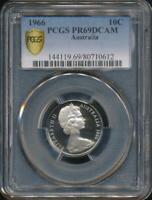 Australia, 1966 Ten Cents, 10c, Elizabeth II - PCGS PR69DCAM (Proof)
