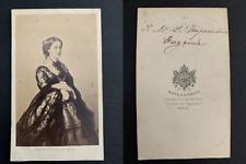 Mayer, Paris, Eugénie de Montijo, impératrice Vintage albumen print, CDV Tirag