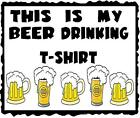 Beer # 10 - 8 x 10 - T Shirt Iron On Transfer - Beer Drinking Shirt