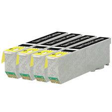 4 Foto Negro Cartuchos de tinta para Epson Expresión xp-520 xp-610 xp-625 xp-720