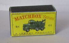Repro Box Matchbox 1:75 Nr.64 Scammel Break Down Truck