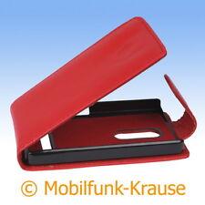 Flip Case Etui Handytasche Tasche Hülle f. Nokia Asha 210 (Rot)