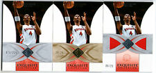 CHRIS BOSH 06/07 UD EXQUISITE 3 CARD LOT! BASE #/225 - GOLD #/25 - JERSEY #/25!