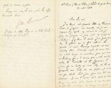 théâtre Gustave LARROUMET lettre autographe signée à Albert CARRE politique