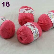 4balls  50g Cashmere Silk Wool Children hand knitting Baby Yarn Rose pink 18_16