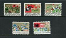 Z197 Albania 1977 military army flags Mig jets 5v. Mnh