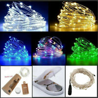 20/50/100 LED Fairy String Light Battery/USB Micro Rice Wire Party Xmas Decor Du