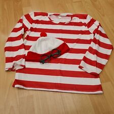 Wheres Wally Fancy Dress Top, Hat and Glasses