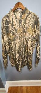 Vintage WOOLRICH Real Tree Hardwoods Camo Button Shirt Men's 2XL XXL Hunting GC