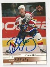 00/01 Upper Deck Autographed Hockey Card Derek Morris Calgary Flames