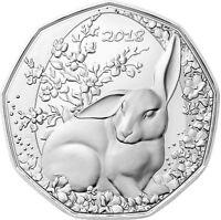 Österreich 5 Euro 2018 Ostermünze Osterhase Silbermünze handgehoben im Folder