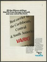 VARIG . The Airlines of Brazil - 1988 Vintage Print Ad