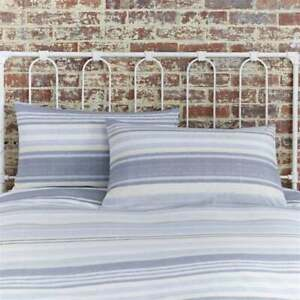 Charlotte Thomas Nevada Blue Striped Housewife Pillowcases (Pair)