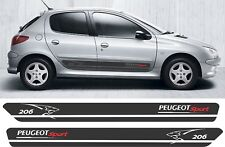 Peugeot 206 Sport side Stripes Graphics Decals Stickers