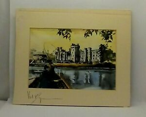 beautiful etching print from the original painting by irish artists val byrne