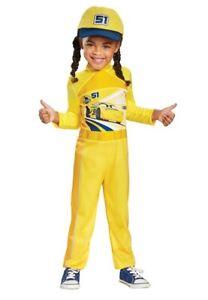 Disney Pixar Cars Halloween Costume Cruz #51 Child Boy Girl Small Cosplay Yellow