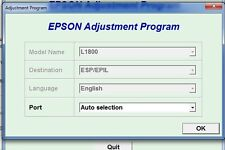 Reset Epson L1800 Reset ink pads counter