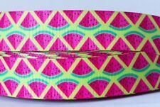 1M X 25mm Grosgrain Ribbon Craft DIY Cake Decorations Bows - Watermelon Yellow