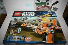 RETIRED Lego Star Wars 7962 Anakin's and Sebulba's PodRacers NIB New In Box 810