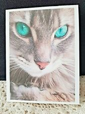 """KITTY'S NOTE CARDS - Set of 10 + Envelopes - """"Love in Sea Green"""""""