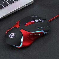 1 x Optisch einstellbare 3200 DPI LED USB Pro Gamer Gaming-Maus für Laptop PC