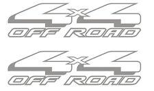 SET OF 2 4X4 OFF ROAD VINYL DECALS STICKER FORD F-150 PLUS METALLIC SILVER