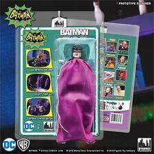BATMAN CLASSIC TV SERIES 2 HEROES IN PERIL; BATMAN  8 INCH FIGURE PURPLE BAG