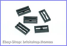 Lego 5 x Gitterfliesen (1 x 2) - 2412b - Grille Tile Dark Bluish Gray - NEU/NEW