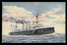 Royal Navy H.M.S.. Powerful Protected Cruiser PPC Tuck Oilette #9109